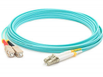 Fiber Optic Duplex Patch Network Cable - Fiber Optic for Network Device Patch Panel Hub Switch Media Converter Router - 16.40 ft - 2 x LC Male Network - 2 x ST Male Network - Aqua