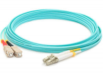 Fiber Optic Duplex Patch Network Cable - Fiber Optic for Network Device Patch Panel Hub Switch Media Converter Router - 29.53 ft - 2 x LC Male Network - 2 x ST Male Network - Aqua