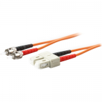5m Multi-Mode fiber (MMF) Duplex ST/SC OM1 Orange Patch Cable - Fiber Optic for Network Device - 5m - 2 x ST Male Network - 2 x SC Male Network - Orange