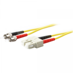 5m Single-Mode fiber (SMF) Duplex ST/SC OS1 Yellow Patch Cable - Fiber Optic for Network Device - 5m - 2 x ST Male Network - 2 x SC Male Network - Yellow