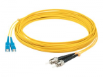 5m Single-Mode fiber (SMF) Simplex ST/SC OS1 Yellow Patch Cable - Fiber Optic for Network Device - 16.40 ft - 1 x ST Male Network - 1 x SC Male Network - Yellow
