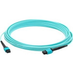 Fiber Optic Duplex Patch Network Cable - Fiber Optic for Network Device Patch Panel Router Media Converter Switch - 3.28 ft - 1 x MPO Female Network - 1 x MPO Female Network - Aqua