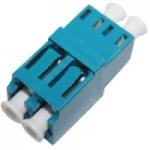 Female LC/ to Female LC/ MMF OM3 Duplex Fiber Optic Adapter - 2 x LC Female Network - 2 x LC Female Network