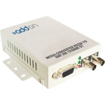500Kbs 1 Serial to 1 ST Med Converter - Media converter - serial - serial RS-232 - 9 pin D-Sub (DB-9) / ST multi-mode - up to 1.2 miles - 1310 nm