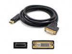 DisplayPort Male to DVI-I (29 pin) Female Black Adapter - 100% compatible with select devices.