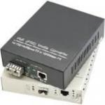 Fiber media converter - GigE - 10Base-T 1000Base-LX 1000Base-TX 100Base-TX - RJ-45 / ST single-mode - up to 24.9 miles - 1310 nm