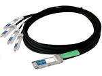 0.5m F5 Compatible QSFP+ Breakout DAC - Direct attach cable - QSFP+ (M) to SFP+ (M) - 1.6 ft - twinaxial - for F5 VIPRION 4300 Blade