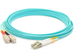 Fiber Optic Patch Network Cable - Fiber Optic for Network Device Patch Panel Hub Switch Media Converter Router - Patch Cable - 164.04 ft - 2 x SC Male Network - 2 x LC Male Network - Aqua