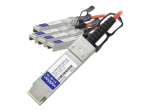40GBase direct attach cable - TAA Compliant - QSFP+ (M) to SFP+ (M) - 1 m - fiber optic - active