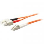 8m Multi-Mode fiber (MMF) Duplex SC/LC OM1 Orange Patch Cable - Fiber Optic for Network Device Transceiver/Media Converter - 26.25 ft - 2 x SC Male Network - 2 x LC Male Network - Orange