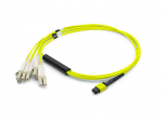 Patch cable - MPO single-mode (F) - LC single mode (M) - 10 ft - fiber optic - 9 / 125 micron - OS1 - halogen-free - yellow