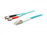 20m LC to ST OM4 Aqua Patch Cable - Patch cable - LC/UPC multi-mode (M) to ST/UPC multi-mode (M) - 20 m - fiber optic - 50 / 125 micron - OM4 - halogen-free plenum - aqua