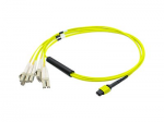 Patch cable - MPO single-mode (F) - LC single mode (M) - 3.3 ft - fiber optic - 9 / 125 micron - OS1 - halogen-free - yellow
