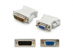 DVI-I (29 pin) Male to VGA Female White Adapter - 100% compatible with select devices.