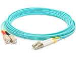 Fiber Optic Duplex Patch Network Cable - Fiber Optic for Network Device Patch Panel Hub Switch Router Media Converter - 49.21 ft - 2 x LC Male Network - 2 x ST Male Network - Aqua