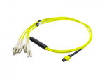 Patch cable - LC single-mode (M) to MPO single-mode (F) - 33 ft - fiber optic - 9 / 125 micron - OS1 - halogen-free - yellow
