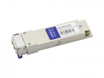 QSFP28 transceiver module (equivalent to: Cisco QSFP-100G-LR4-S) - 100 Gigabit Ethernet - 100GBase-LR4 - LC single-mode - up to 6.2 miles - 1270-1330 nm - TAA Compliant