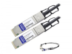 100GBase direct attach cable - TAA Compliant - QSFP28 to QSFP28 - 10 ft - twinaxial - passive