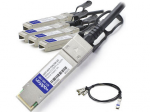 5m Industry Standard QSFP+ Breakout DAC - Direct attach cable - SFP+ to QSFP+ - 16.4 ft - twinaxial