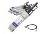 40GBase direct attach cable - SFP+ to QSFP+ - 23 ft - twinaxial - active - TAA Compliant