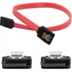 5 Pack 12in SATA Serial ATA Cable with Latches - F/F - SATA - 1 ft - 5 Pack - 1 x SATA Female SATA - 1 x SATA Female SATA - Red