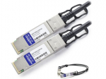 QSFP+ direct attach copper twinax cable modules are ideal for very short distances while offering a cost effective and high speed alternative to fiber optics in short reach 40Gb Ethernet and InfiniBand applications. AddOns QSFP+ to QSFP+ cables pro