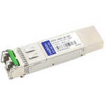 Juniper SFPP-10GE-ZR Compatible SFP+ Transceiver - SFP+ transceiver module (equivalent to: Juniper SFPP-10GE-ZR) - 10 GigE - 10GBase-ZR - LC single-mode - up to 49.7 miles - 1550 nm - for Juniper T-series T320