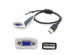 20.00cm (8.00in) USB 2.0 (A) Male to VGA Female Black USB Video Adapter - 100% compatible with select devices.