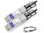 0.5m NetAPP Compatible QSFP+ DAC - Direct attach cable - QSFP+ to QSFP+ - 1.6 ft - twinaxial - SFF-8436/IEEE 802.3ba - passive