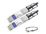 1m Intel Compatible QSFP+ DAC - Direct attach cable - QSFP+ to QSFP+ - 3.3 ft - twinaxial - passive - for Intel Ethernet Converged Network Adapter X520-QDA1