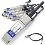 5m HP Compatible QSFP+ Breakout DAC - Direct attach cable - SFP+ to QSFP+ - 16.4 ft - twinaxial - for HPE 5900AF-48 FlexFabric 1.92 11908 12902