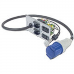 BACKPLATE KIT WITH 2XIEC320 C19 AND IEC 60309 FOR SYMMETRA RM 230V