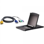 CL5808N 8-Port Dual Rail LCD KVM Switch - KVM console with KVM switch - 8 ports - PS/2 USB - 19 inch - rack-mountable - 1280 x 1024