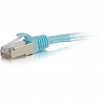10ft Cat6a Snagless Shielded (STP) Network Patch Ethernet Cable Aqua - Patch cable - RJ-45 (M) to RJ-45 (M) - 10 ft - screened shielded twisted pair (SSTP) - CAT 6a - molded snagless stranded - aqua