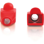 RJ45 Snagless Boot Cover (6.0mm OD) - Red - 50pk - Cable Boot - Red - 50 Pack