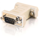 DB9 Male to DB9 Female Null Modem Adapter - 1 Pack - 1 x DB-9 Male Serial - 1 x DB-9 Female Serial - Beige