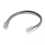6in Cat6 Non-Booted Unshielded (UTP) Network Patch Cable - Gray - Slim Category 6 for Network Device - RJ-45 Male - RJ-45 Male - 6in - Gray