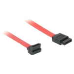 7-pin 180 to 90 1-Device Serial ATA Cable - SATA cable - Serial ATA 150/300/600 - 7 pin SATA (F) to 7 pin SATA (F) - 1 ft - 90 degree connector - red