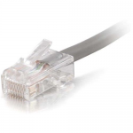 10FT CAT5E NON-BOOTED NETWORK PATCH CABLE (PLENUM-RATED) - GRAY