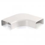 Wiremold Uniduct 2900 Bend Radius Compliant Flat Elbow - White - Elbow - White - Polyvinyl Chloride (PVC)