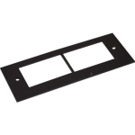 Wiremold OFR Communications Device Plate - Cable raceway interface box plate - black