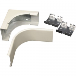 Wiremold 2400 Radiused Internal Elbow Fitting - Cable raceway elbow fitting - ivory