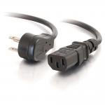 3ft 18 AWG Universal Flat Panel Power Cord (NEMA 5-15P to IEC320C13) - Power cable - NEMA 5-15 (M) to IEC 60320 C13 - 3 ft - black