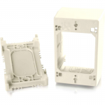Wiremold Uniduct Single Gang Extra Deep Junction Box - Ivory - Cable raceway junction box - ivory - 1-gang