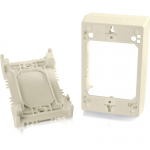 Wiremold Uniduct Single Gang Deep Junction Box - Ivory - Cable raceway junction box - ivory - 1-gang