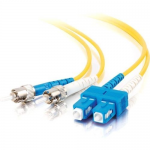 3m SC-ST 9/125 Duplex Single Mode OS2 Fiber Cable TAA - Yellow - 10ft - Patch cable - TAA Compliant - SC single-mode (M) to ST single-mode (M) - 3 m - fiber optic - 9 / 125 micron - OS1 - yellow