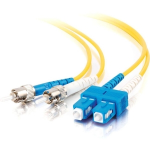 8m SC-ST 9/125 Duplex Single Mode OS2 Fiber Cable TAA - Yellow - 26ft - Patch cable - SC single-mode (M) to ST single-mode (M) - 8 m - fiber optic - 9 / 125 micron - OS2 - yellow - TAA Compliant