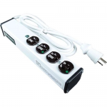 POWER STRIP MEDICAL GRADE 4OUT 120V/15A 6FT