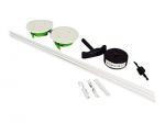 Wiremold Wall Grommet Kit - Cable wall grommet kit - white