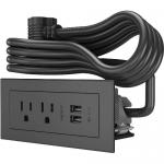 WIREMOLD RADIANT FURNITURE POWER CENTER (2) OUTLET (2) USB BLACK